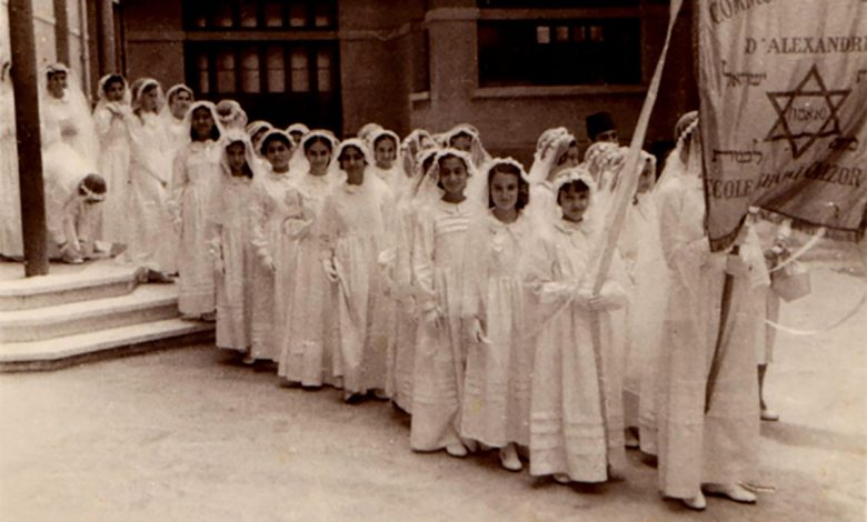 Egyptian Jewish girls in a parade in Alexandria in the beginnings of the 20th century. Photograph: Nebi Daniel Association