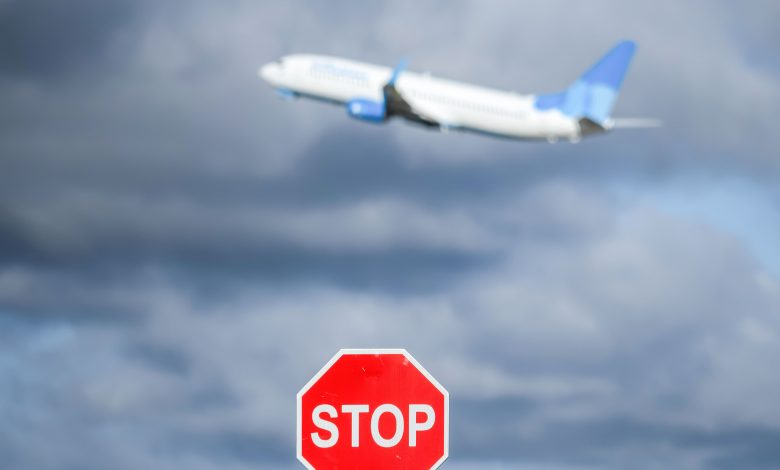 A picture of a Boeing airplane taking off. Reuters, Alexander Sayganov, SOPA Images, Sipa USA.